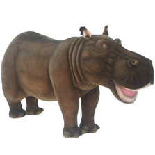 Hippo Ride-On Sutffed Animal | Hansa Toys | HTU4307