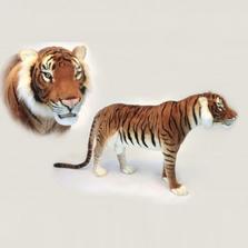 Tiger Jaquard Standing Plush Animal   Hansa Toys   6592