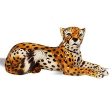 Laying Cheetah Ceramic Sculpture | Intrada Italy | INTANI1261 -2