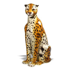 Cheetah Safari Ceramic Sculpture | Intrada Italy | INTANI2312