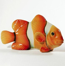 Clown Fish Orange Ceramic Sculpture | Intrada Italy | INTFIS1230