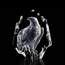 Eagle Crystal Sculpture | 33351 | Mats Jonasson Maleras