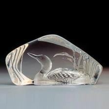 Peaceful Loon Crystal Sculpture | 33571 | Mats Jonasson Maleras