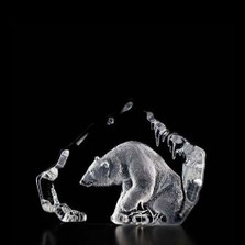 Polar Bear Crystal Sculpture | 33598 | Mats Jonasson Maleras
