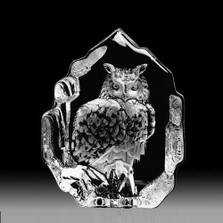 Eagle Owl Crystal Sculpture | 33600 | Mats Jonasson Maleras