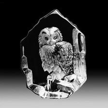 Tawny Owl Crystal Sculpture | 33602 | Mats Jonasson Maleras
