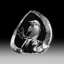 Flycatcher Crystal Bird Sculpture | 33638 | Mats Jonasson Maleras