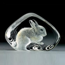 Rabbit Crystal Sculpture | 33738 | Mats Jonasson Maleras