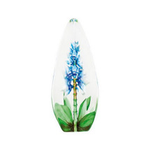 Blue Orchid Flower Crystal Sculpture | 33818 | Mats Jonasson Maleras