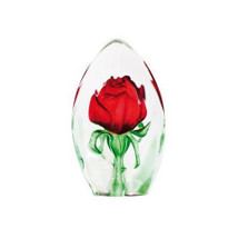 Red Rose Crystal Sculpture | 33838 | Mats Jonasson Maleras