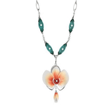 Moth Orchid Necklace  | Franz Porcelain Jewelry | FJ00114