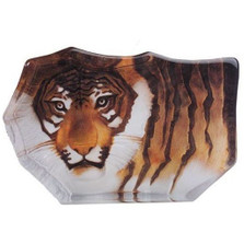 Tiger Crystal Painted Small Sculpture | 33850 | Mats Jonasson Maleras