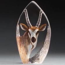 Antelope Crystal Sculpture | 33864 | Mats Jonasson Maleras