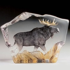 Moose Crystal Sculpture | 33888 | Mats Jonasson Maleras -2
