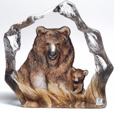 Bear Crystal Sculpture | 33889 | Mats Jonasson Maleras