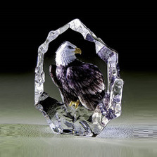 Color Eagle Crystal Sculpture | 33893 | Mats Jonasson Maleras