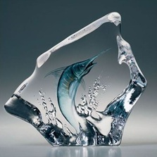 Marlin Crystal Sculpture | 33954 | Mats Jonasson Maleras