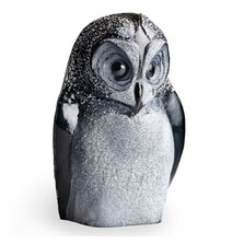Owl Black Crystal Sculpture | 34050 | Mats Jonasson Maleras