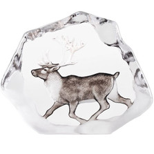 Reindeer Wildlife Crystal Sculpture | 34067 | Mats Jonasson Maleras