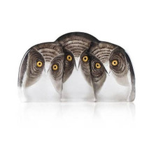 Three Owls Crystal Sculpture | 34107 | Mats Jonasson Maleras