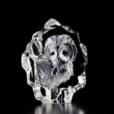 Mini Owlet Crystal Sculpture | 88116 | Mats Jonasson Maleras