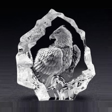 Mini Eagle Crystal Sculpture | 88124 | Mats Jonasson Maleras