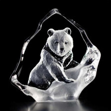 Grizzly Bear Mini Crystal Sculpture | 88131 | Mats Jonasson Maleras