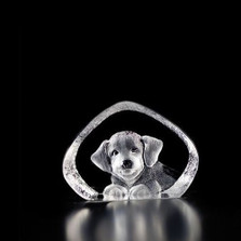 Puppy Dog Mini Crystal Sculpture | 88142 | Mats Jonasson Maleras