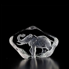 Mini Elephant Crystal Sculpture | 88144 | Mats Jonasson Maleras