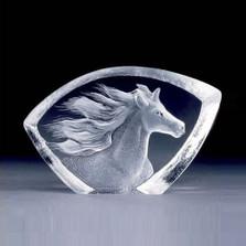 Mini Horse Crystal Sculpture | 88146 | Mats Jonasson Maleras