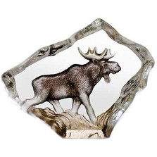 Moose Mini Crystal Sculpture | 88169 | Mats Jonasson Maleras -2