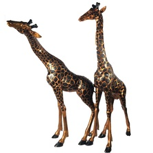 Giraffe Pair Bronze Outdoor Large Statues | Metropolitan Galleries | MGISRB15043