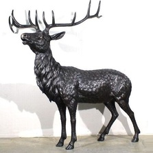 Elk Life Size Bronze Outdoor Statue | Metropolitan Galleries | MGISRB25456