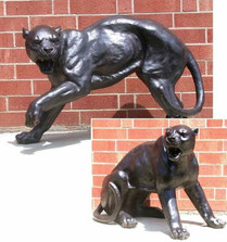 Panther Fighting Pair Bronze Outdoor Statues | Metropolitan Galleries | MGISRB30058 -4