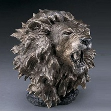 "Lion Bronze Sculpture ""Dominance"" 