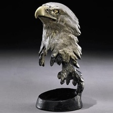 "Bronze Eagle Sculpture ""Liberty"" 