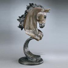 Stallion Bronze Horse Sculpture   Mark Hopkins   mhs081014