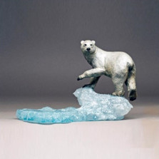 "Polar Bear Bronze Sculpture ""Arctic Spirit"" 