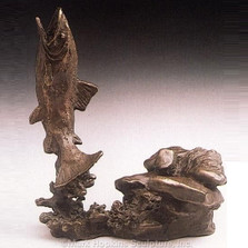 Trout Bronze Sculpture | Mark Hopkins | MHS21024