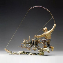 "Fisherman Sculpture ""The Strike"" 