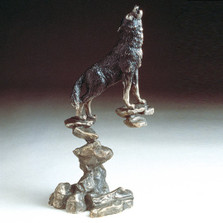 Wolf Bronze Sculpture | Mark Hopkins | mhs22014