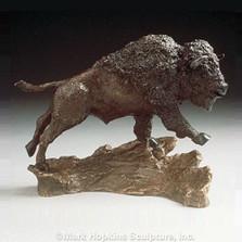 Buffalo Bronze Sculpture | Mark Hopkins | mhs22015