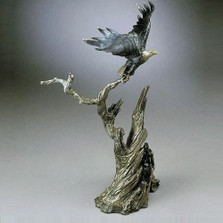 Taking Flight Eagle Bronze Sculpture | Mark Hopkins | mhs22029