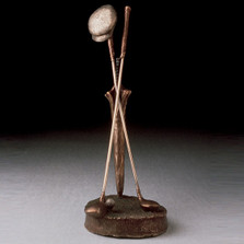 "Bronze Golf Sculpture ""Woods"" 
