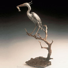 Heron Bronze Sculpture | Mark Hopkins | mhs41012