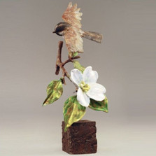 "Chickadee Sculpture Bronze ""Carolina's Call"" 