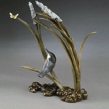 "Bronze Bird Sculpture ""Catch Ya Later"" 