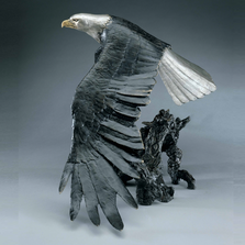 "Eagle Bronze Sculpture ""Day Break"" | Mark Hopkins | MHS76006"