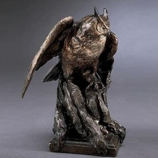 Owl Bronze Sculpture | Mark Hopkins | mhs81021