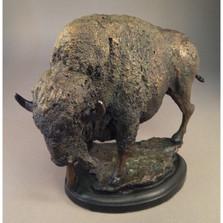 Bison Bronze Sculpture | Mark Hopkins | mhs81031